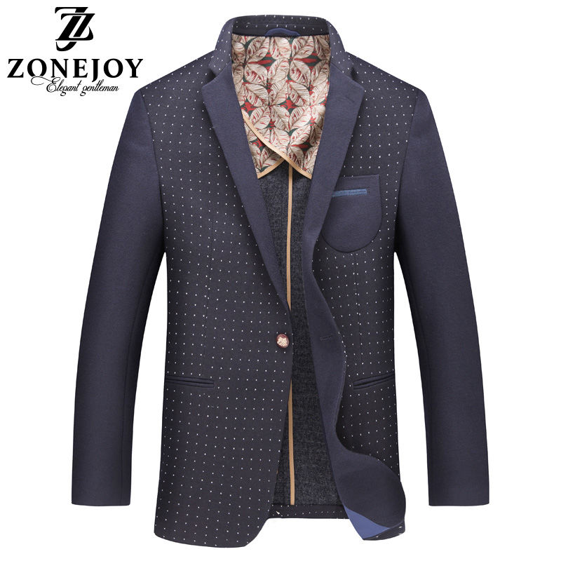 ZONEJOY/庄爵西服男休闲外套中青年春秋修身商务便西男士小西装潮