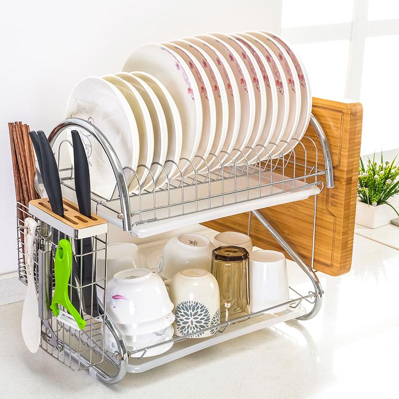 碗架沥水架碗碟架厨房置物架晾洗放碗筷收纳架家用滤水洗碗池碗架