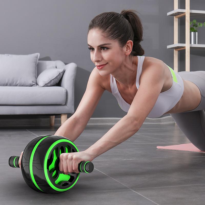 健腹轮腹肌女男收腹瘦腰滚轮初学者马甲线运动健身器材家用减肚子