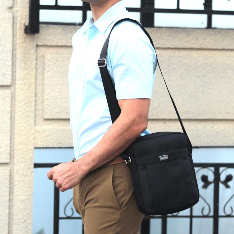男包单肩包男士挎包休闲单肩斜挎包小型牛津布小背包上班包工作包