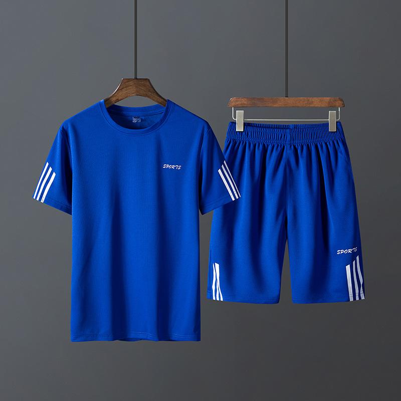 短袖男t恤一套装2019新款韩版潮流纯棉衣服男装帅气搭配潮牌夏装