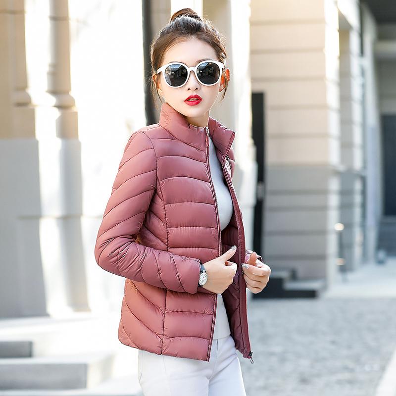修身显瘦轻薄冬季短款棉衣女外套妈妈新款黑色小棉袄棉服百搭工服