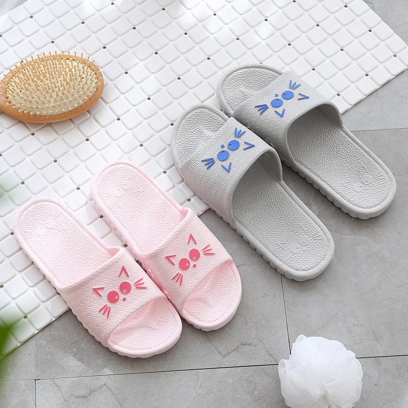 家居冲凉拖鞋女夏天浴室居家室内塑料防滑情侣洗澡家用夏季男拖鞋