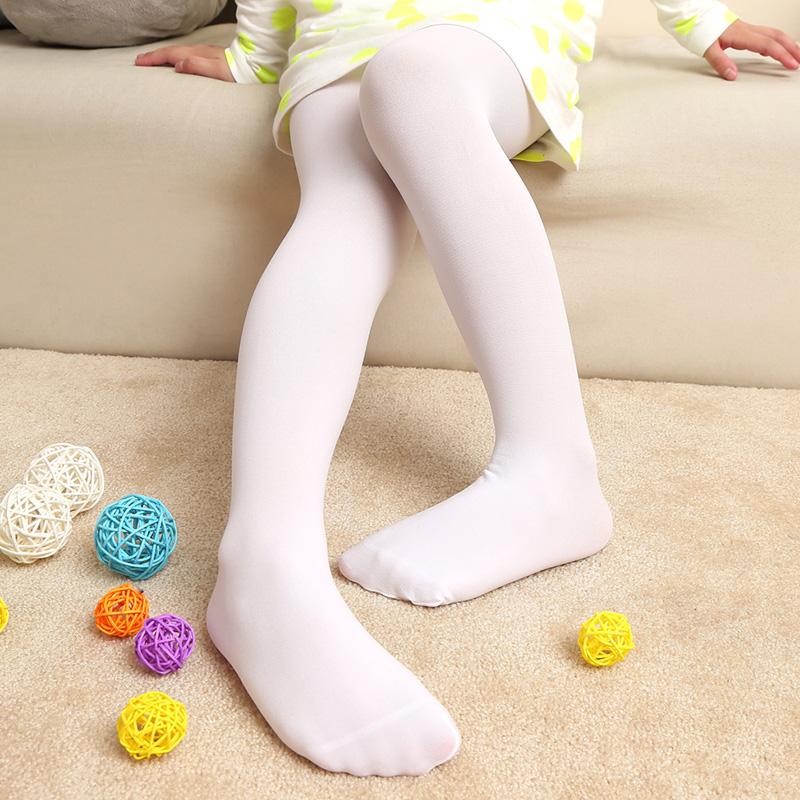 儿童女童夏薄款白色天鹅绒舞蹈连裤袜宝宝丝袜纯棉连袜裤打底裤袜
