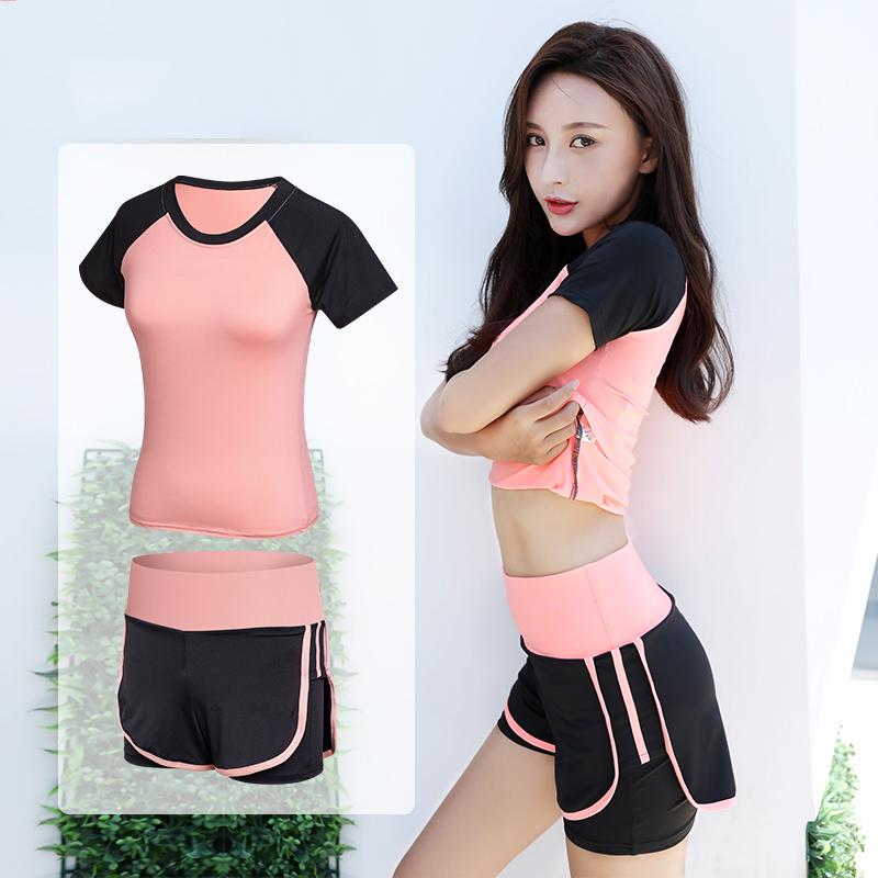 瑜伽服健身运动套装女春秋季训练跑步服长袖休闲羽毛球健身服长袖