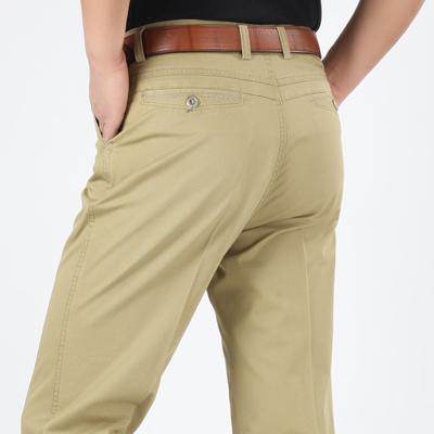 春夏薄款中老年男士休闲裤商务直筒加肥加大爸爸装宽松纯棉男裤子