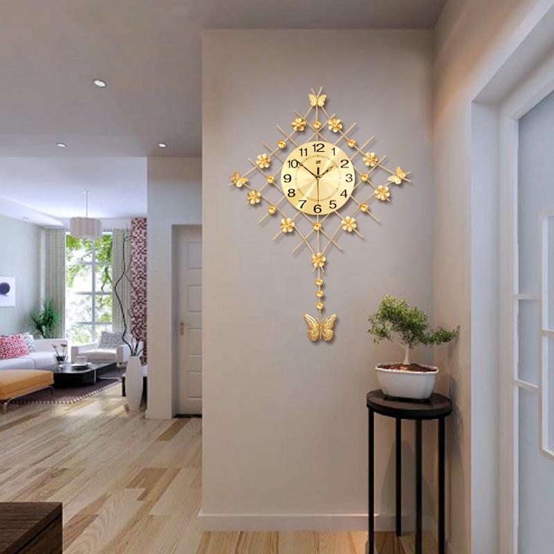 客厅现代简约个性挂钟创意时尚家用大气挂表装饰时钟静音艺术钟表