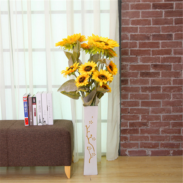 Buy Large Size Long Living Room Floor Flower Artificial Flowers Sunflower Sunflowers Flower Garden Decoration Barley Bouquet Suit In Cheap Price On Alibaba Com