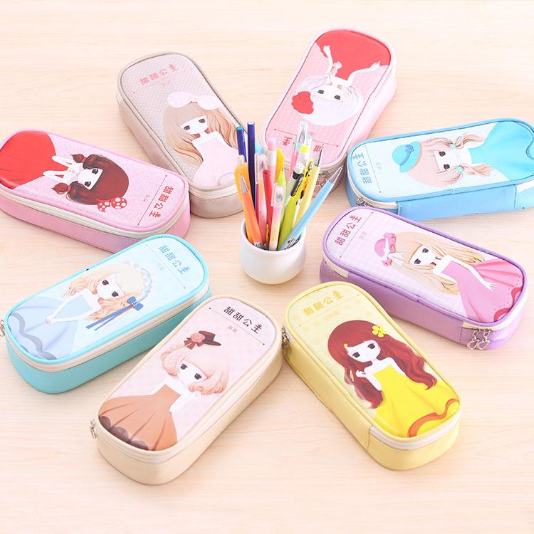 韩版卡通大容量创意简约笔袋新款可爱高中小学生卡通小熊小笔袋