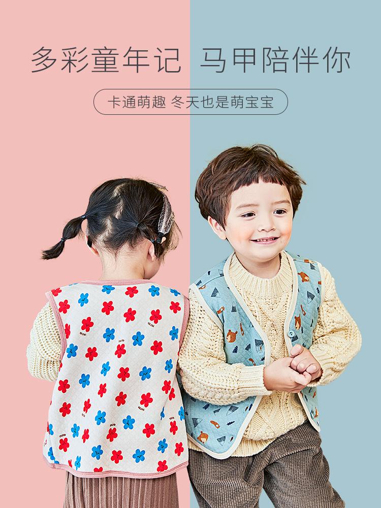 直播特惠 儿童棉马甲 原 89-99,直播价29-39