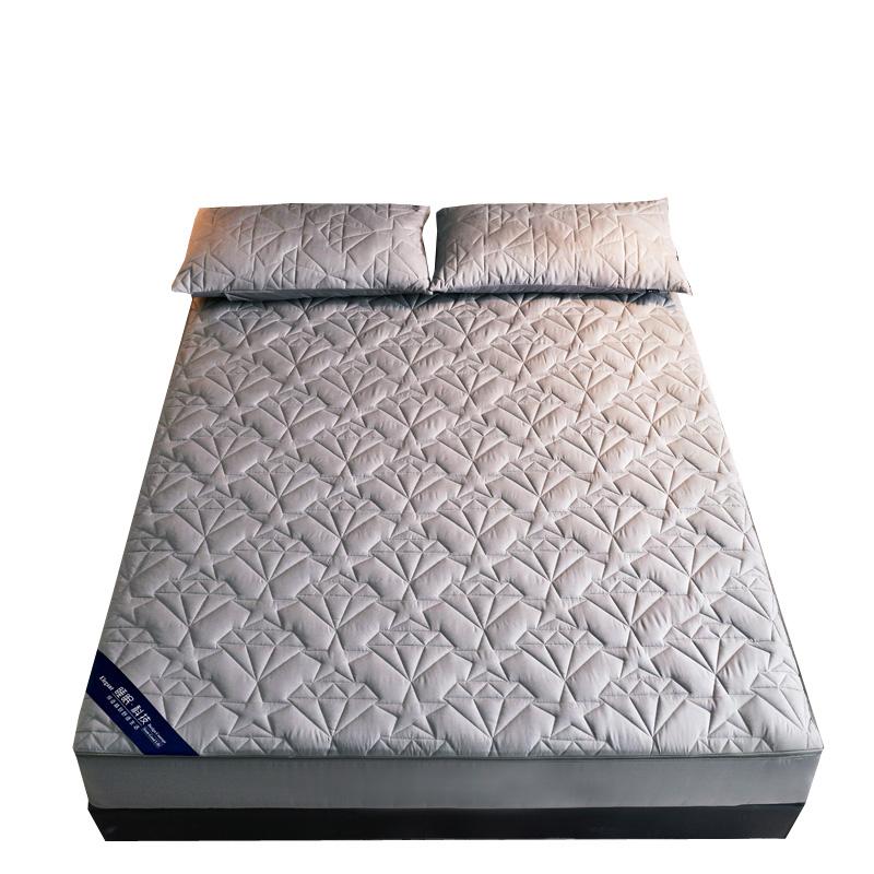 床笠单件六面全包夹棉加厚拉链式床垫保护套防滑可拆卸床罩可定做
