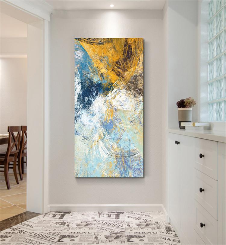 现代简约玄关过道装饰画竖版客厅抽象壁画墙画走廊创意挂画无框画图片