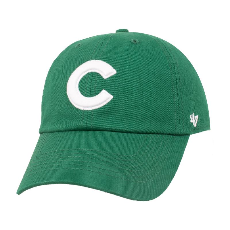 47mlb绿色帽子女韩版潮ins软顶大标鸭舌帽经典款ny洋基队棒球帽男