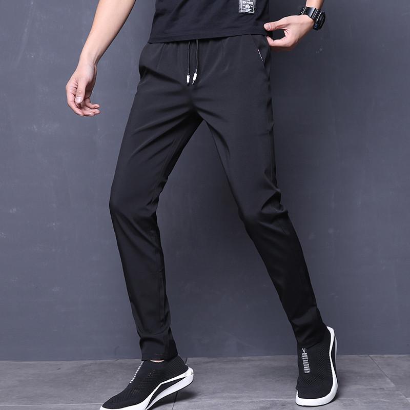 2018秋季新款直筒运动裤男弹力男士休闲裤修身小脚裤速干透气长裤