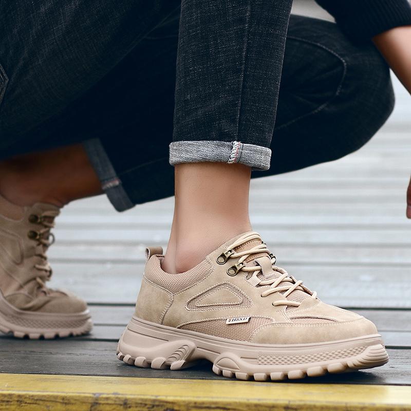 男鞋夏季透气新款小白鞋低帮马丁靴男士老爹鞋休闲百搭鞋子男潮鞋