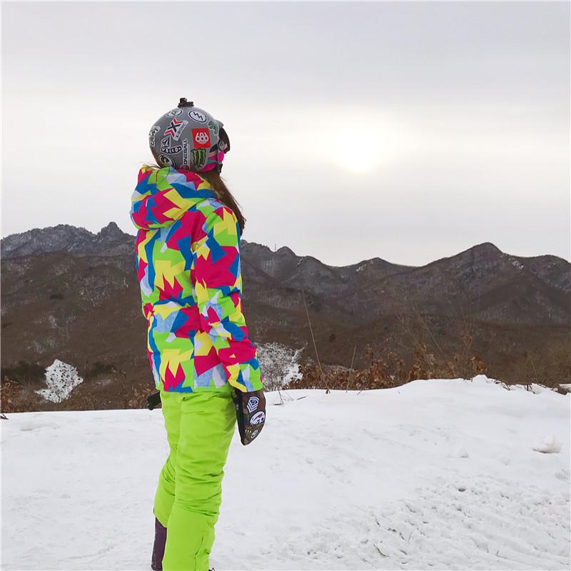 冬季加厚保暖防风防水透气单双板滑雪衣裤 滑雪服女套装 RIVIYELE
