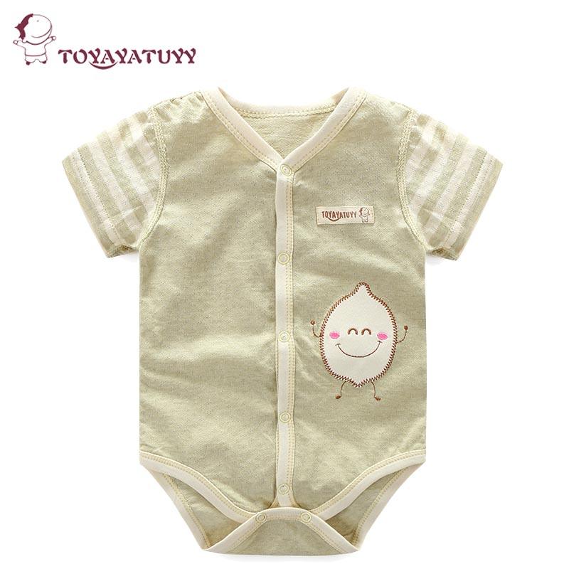 婴儿连体衣夏季全棉装彩棉短袖睡衣新生儿衣服宝宝包屁衣儿童哈衣