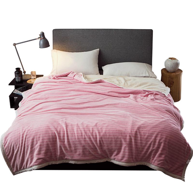 二十一毛毯被子加厚冬季加厚珊瑚绒法兰绒被毯盖毯保暖双层亲肤毯
