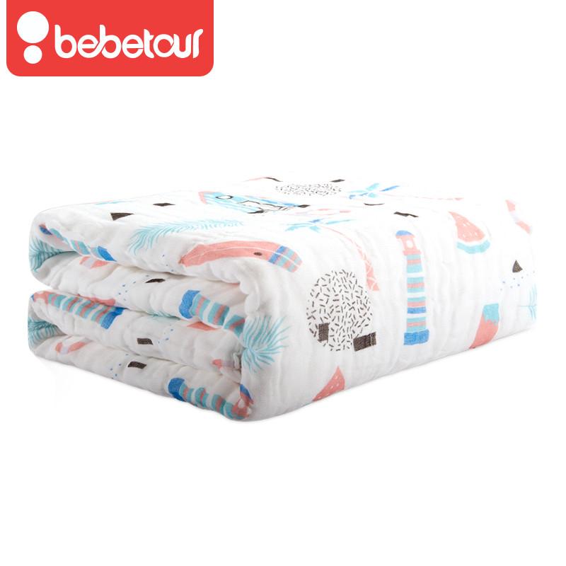 Bebetour婴儿浴巾纯棉纱布超柔吸水新生儿宝宝毯儿童洗澡大毛巾被