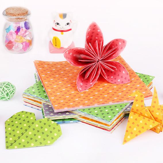 大人diy 得力彩色手工纸制作儿童小学生彩纸印花多功能折纸材料衍叠纸