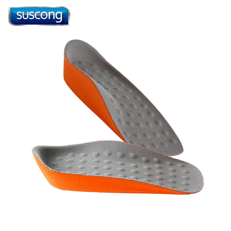 增高鞋垫男士女式隐形休闲运动鞋增高垫内增高鞋垫舒适半垫2-5cm