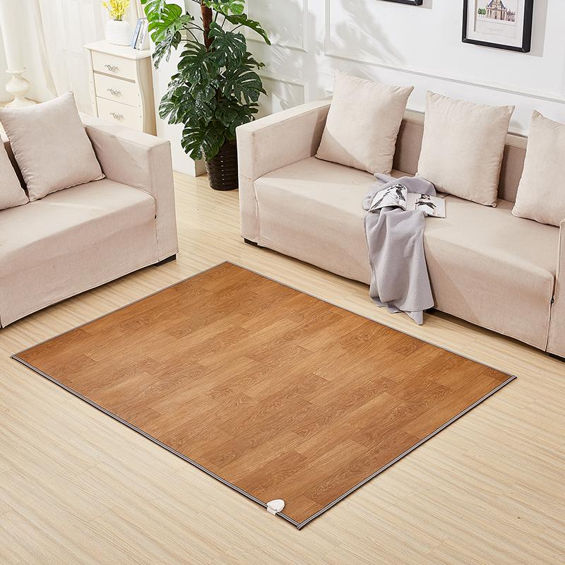美盈和暖碳晶电热地暖垫电热暖脚垫雪尼尔电热地毯移动地暖垫电热