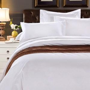 祝源酒店宾馆床上用品四件套全棉防雨布白色居家客房床单被套枕套
