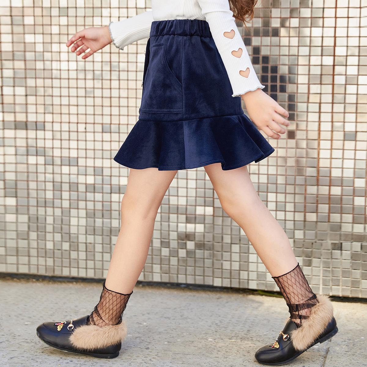 衣品天成童装2020春秋新款女童中大儿童韩版洋气时尚半身短裙子