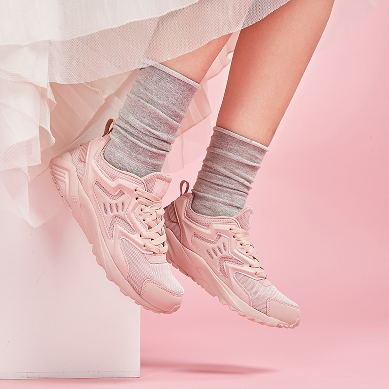 361女鞋跑步鞋百搭时尚经典休闲鞋361度冬季新款复古阿甘鞋运动鞋