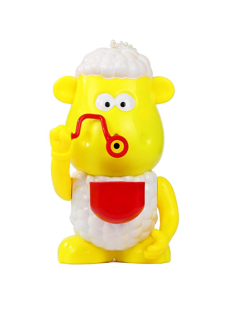 儿童全自动吹泡泡机玩具泡泡抢抖音同款 网红吹泡泡招财羊泡泡机图片