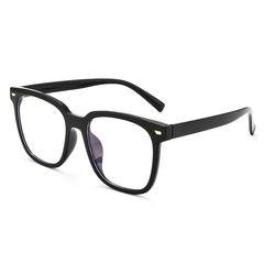 超大黑框眼镜框男平光镜个性文艺可配近视素颜大脸显瘦网红镜架女价格比较