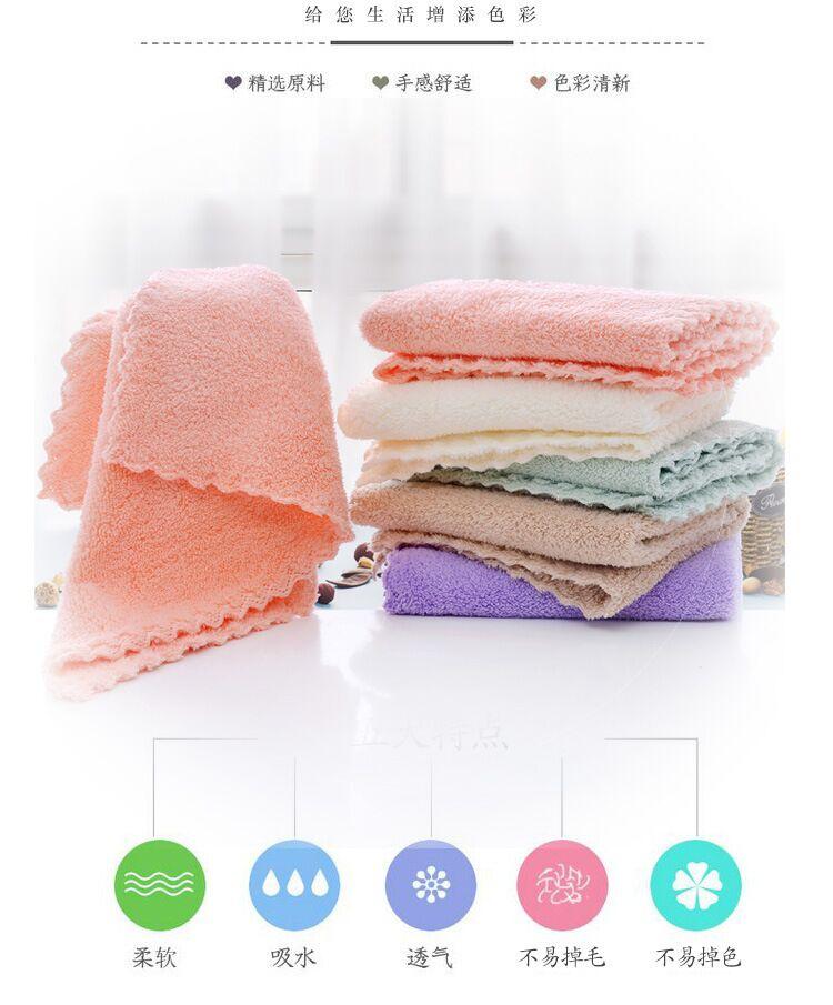 婴儿毛巾五条装宝宝小方巾家用口水巾纯棉四方柔软儿童洗脸毛巾