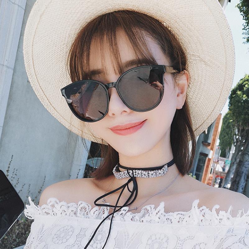 2019新款太阳镜女网红明星款墨镜韩国个性大框圆脸男黑色开车眼镜