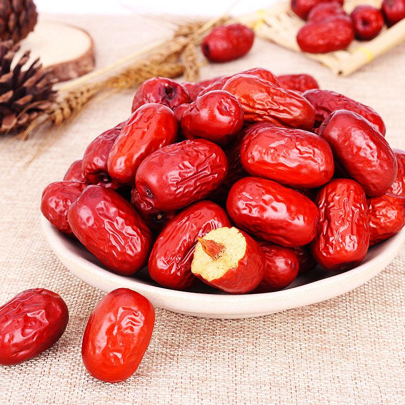 三叶果新疆红枣若羌灰枣特级免洗红枣子2500克非和田大枣孕妇零食
