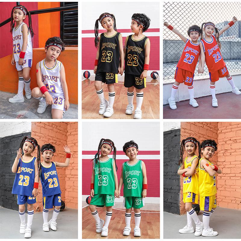 夏季儿童篮球服套装男女中小学生运动训练球衣幼儿园表演服装定制