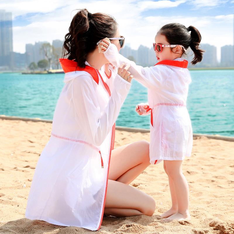 2018夏季新款防晒衣女中长款轻薄宽松沙滩海边防晒服韩版开衫外套