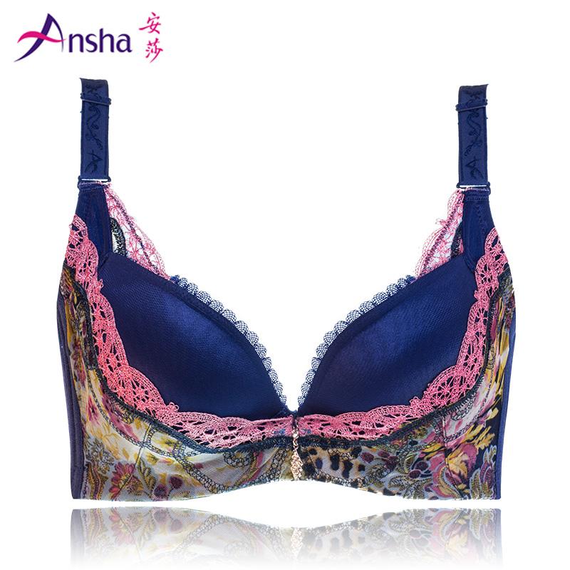 安莎女士内衣文胸 深V性感聚拢调整型  透气3D立体收副乳胸罩X