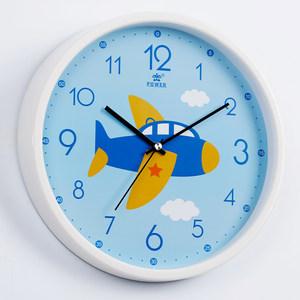 霸王挂钟客厅家用静音儿童卡通创意钟表卧室恐龙图案时钟飞机汽车