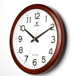 霸王钟表实木挂钟客厅家用中国风大气欧式大挂表静音中式石英时钟