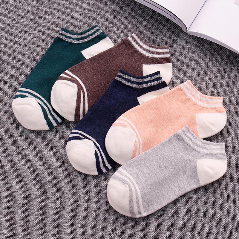 袜子女春夏季短袜船袜浅口隐形韩国可爱个性百搭薄款低帮撞色棉袜
