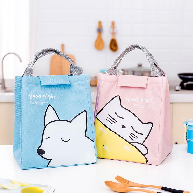 铝箔加厚保温袋可爱卡通便当包上班带饭的午餐手提袋子学生饭盒包