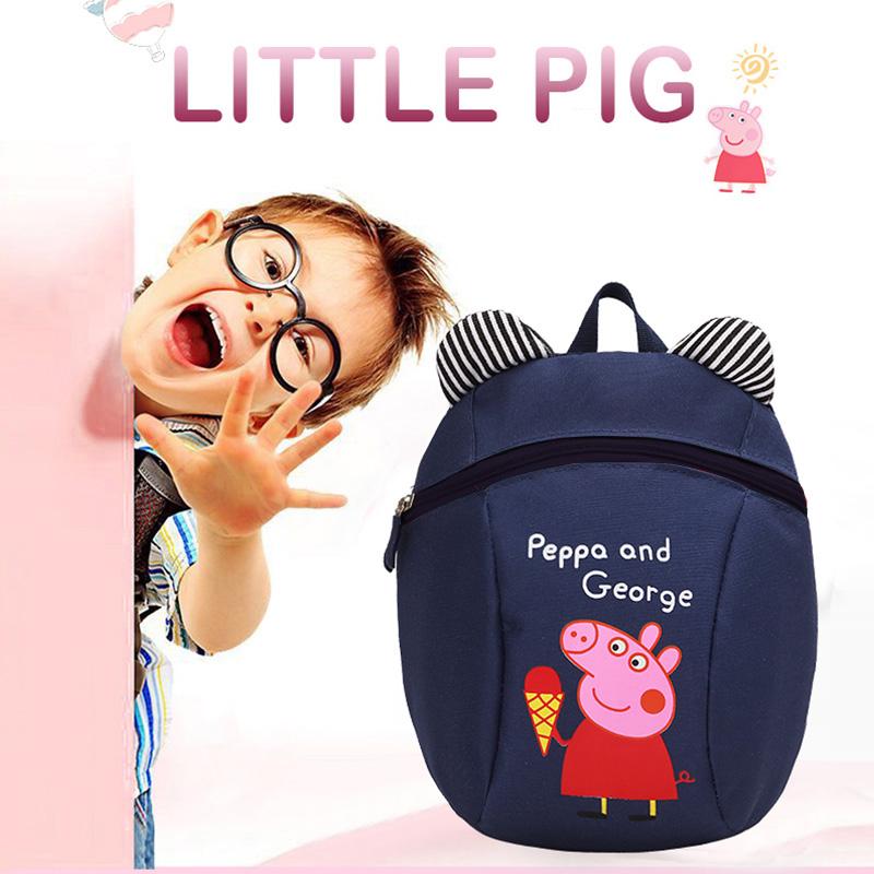 幼儿宝宝双肩小书包1-3-6岁儿童防走失背包美队蜘蛛侠卡通小猪熊