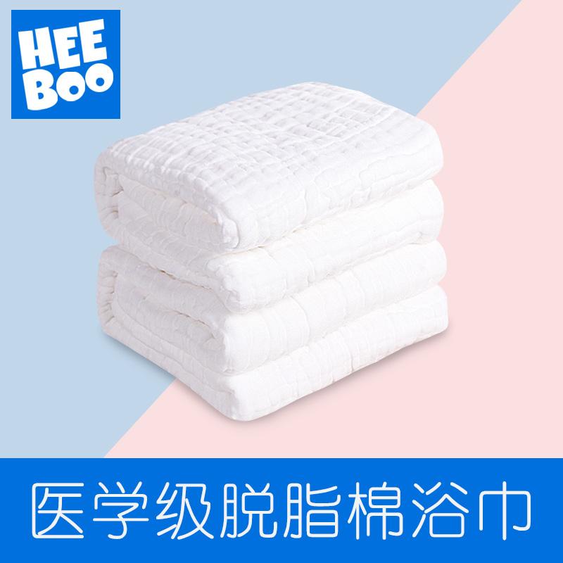 婴儿浴巾纯棉吸水新生儿家用毛巾亲肤超柔宝宝浴巾泡泡纱布6层9层
