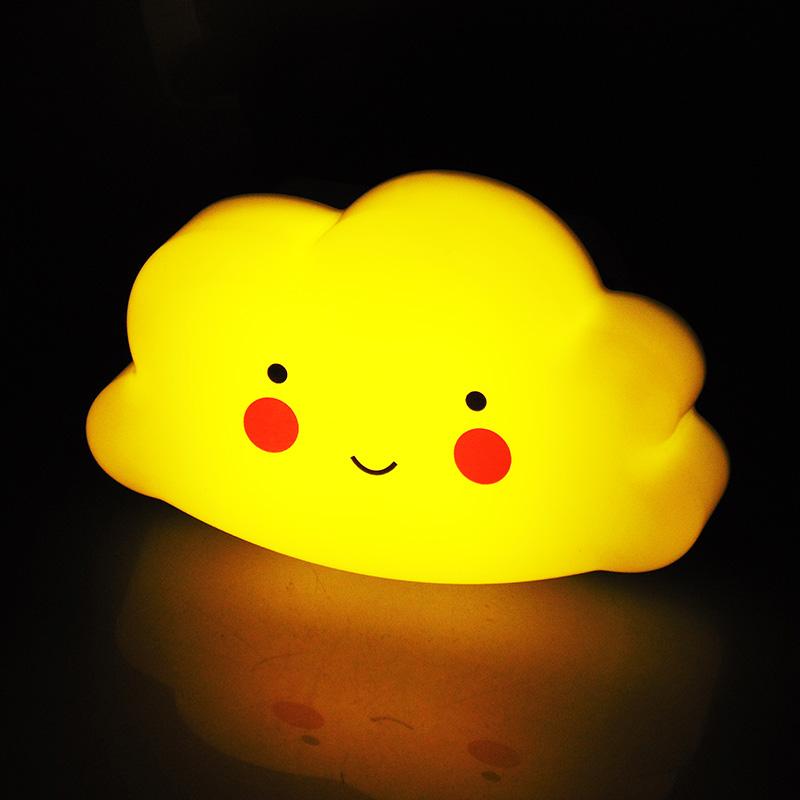 腓立比LED小夜灯USB充电遥控定时调光夜灯床头喂奶灯云朵