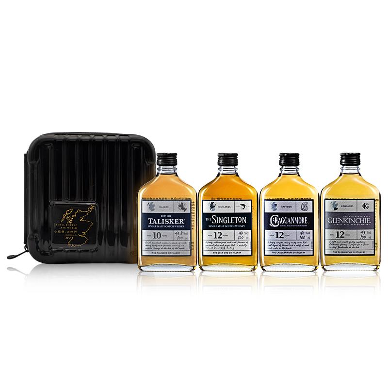 帝亚吉欧 风味探索系列套装100mL*4 单一麦芽威士忌 进口洋酒