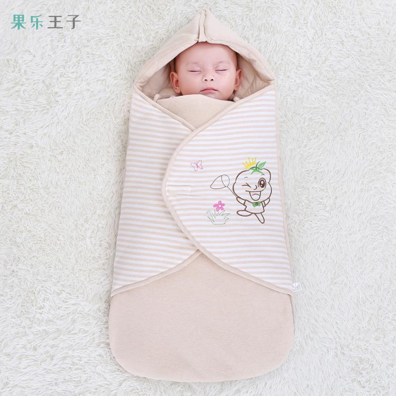 新生儿抱被宝宝用品防惊跳睡袋纯棉加厚秋冬外出初生婴儿包被冬季