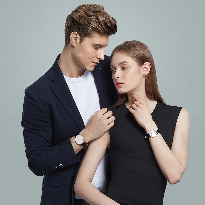 Fila 斐乐 FLL38-778 情侣款时尚皮带手表 送布带
