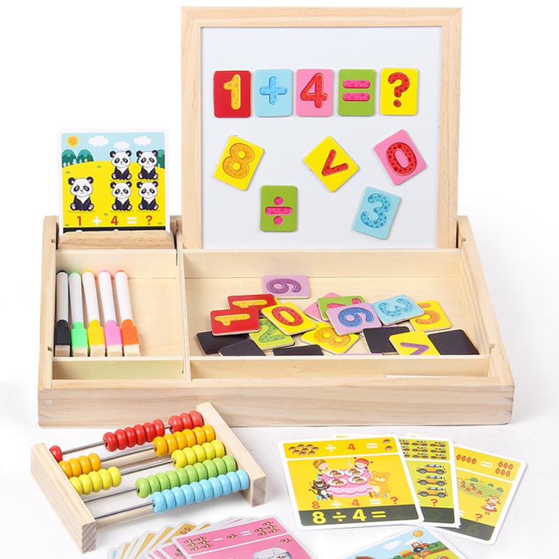 儿童磁性拼图宝宝画板女孩智力开发男孩积木益智玩具1-2-3-6周岁