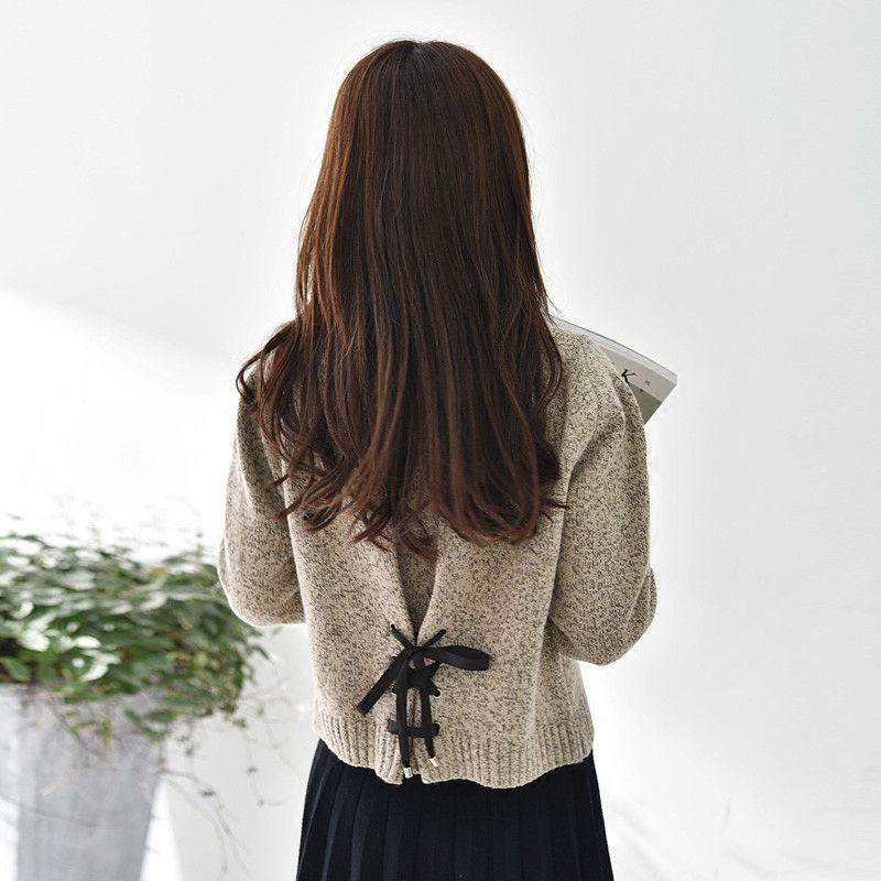 2019春秋季新款针织衫套头毛衣女学生韩版宽松短款打底衫女长袖潮