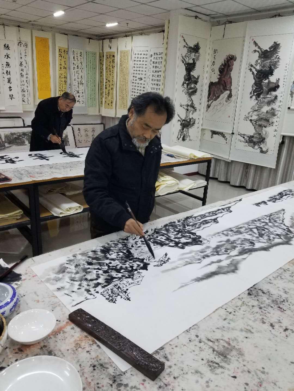 书画大师现场装作 书法国画 山水画花鸟画 字画收藏 私人订制